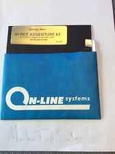 Cranston Manor Hi RES adventure #3 On-line Systems Apple II Sierra 1981 used