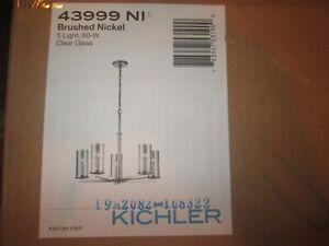 Kichler Lighting 43999NI Crosby Midcentury Modern Chandelier In Brushed Nickel