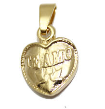 Te Amo Heart Bold Pendant 18k Gold Plated with 20 inch Chain - Te Amo Necklace