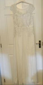 Jenny Packham Wedding Dress Size 14 Mesh Embellished Maxi Brand New With Tags