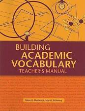 NEW Building Academic Vocabulary: Teacher's Manual (Professional Development)