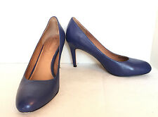 Corso Como Blue All Leather Round Toe Classic Pumps Size US 10 M