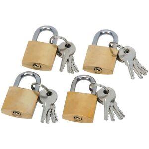 4-Pack Mini Padlock Luggage Locks with Keys, 22mm