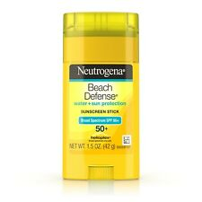 New Neutrogena Beach Defense Oil-Free Sunscreen Stick SPF 50+ 1.5 Oz.