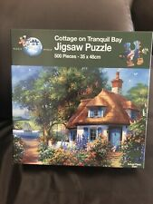 Cottage On Tranquil Bay Puzzle World 500 Piece Jigsaw - 100% Complete