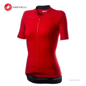 Castelli ANIMA 3 Womens Short Sleeve Cycling Bike Jersey : RED/BLACK