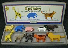 Restoration Hardware Hand Painted Wooden Birthday Animal Candleholders Set of 10