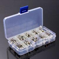100tlg Glas-Feinsicherungen in Kunststoff-Sortimentsbox, 5 x 20 mm Träge