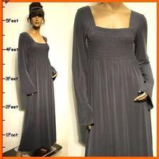 Plus Size L XL 2X Cocktail NEW Gray Full-Length Long Sleeve Evening Maxi Dresses