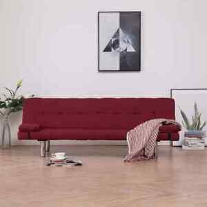 vidaXL Schlafsofa Kissen Polyester Schlafcouch Gästebett Sofa mehrere Auswahl