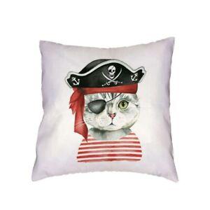 Housse de coussin - Chat [pirate] - 45 cm x 45 cm - Neuf !!!