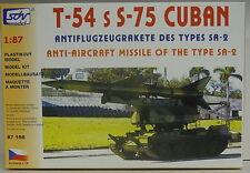 Fla-Rakete S-75 auf T-54 Kubanisch , HO, 1/87, SDV, Plastikbausatz, *NEUHEIT*