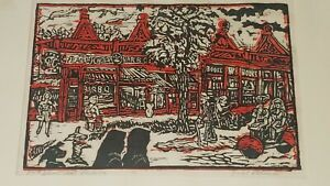 Emil Armin 57th Street Art Studios Color Woodcut Signed Titled and Numbered 12