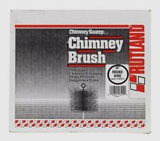 """New! 16410 RUTLAND 10"""" Round Spring Wire Chimney Sweep Soot Cleaning Brush Black"""