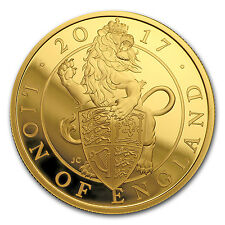 2017 Great Britain Proof 1 oz Gold Queen's Beast Lion (Box & COA)