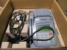 First Data Retail Pos Credit Card Reader Fd200 Fd-200 Terminal With Ac adapter