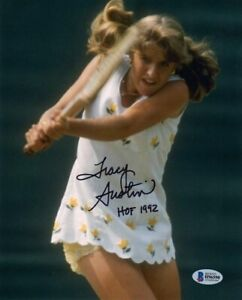 TRACY AUSTIN SIGNED AUTOGRAPHED 8x10 PHOTO + HOF 1992 TENNIS LEGEND BECKETT BAS