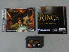 LOTR Fellowship of The Ring Nintendo Gameboy Advance Game w/Manual