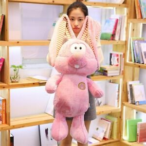 "31.5"" Long Ears Rabbit Plush Toy Cute Expression Stuffed Soft Doll Gift"