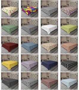 Ambesonne Plaid Flat Sheet Top Sheet Decorative Bedding 6 Sizes