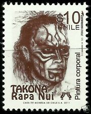 CHILE, EASTER ISLAND BODY PAINTING, TAKONA, RAPA NUI TATOOS, MNH