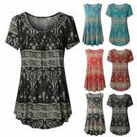 Fashion Women Pleated Blouse Casual Loose Vest Summer Loose Tunic Tops T-Shirts