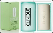 NEW Clinique Acne Solutions Cleansing Bar For Face And Body w/ Dish 5.2oz/150g