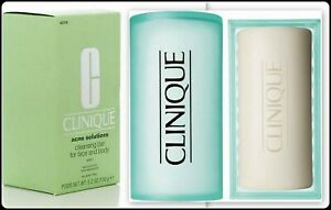 Clinique Acne Solutions Cleansing Bar Soap For Face And Body w/ Dish 5.2oz/150g