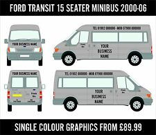 Ford Transit 15 Seat Minibus Custom Decals Sign Writing Vinyl Stickers Business