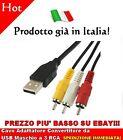 USB to 3 x RCA Male Cable Length: 1.5m Cavo Adattatore Convertitore AV Video