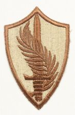 Army patch:  U.S. Central Command - tan, cut edge