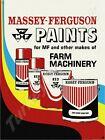 "MASSEY-FERGUSON PAINTS 9"" x 12"" METAL SIGN"