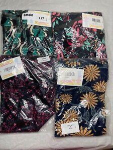 4 LuLaRoe Cassie Skirt Size Large 27