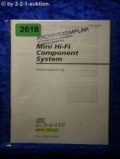 Sony Bedienungsanleitung HCD W550 / MHC W550 Component System (#2618)