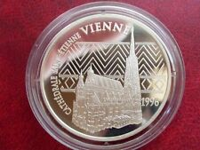 1996 France Large Silver Proof  100 Fr/15 Euro Vienna Cathedral