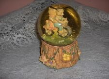 Vintage Snow Globe Music Box 2 Bears Riding Tricycle Getting To Know You