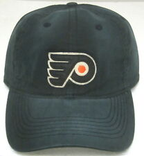 NHL Philadelphia Flyers Black Relaxed Fit One Size Fits All Fitted Hat By Reebok