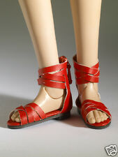 Tonner Nu Mood Red Sandals Flat 4 Doll Shoes 2012, New