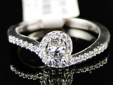 14K Ladies Womens White Gold Solitaire Diamond Bridal Wedding Engagement Ring