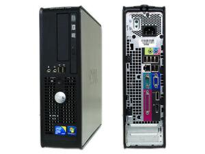 DELL 780 SFF PC USATO CORE 2 DUO 250GB 4GB DDR3 E8400 DVD WINDOWS 7