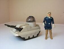 vintage star wars figure Han Solo [Hoth] & MLC-3 mini-rig vehicle.