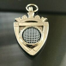 """Antique Art Deco Sterling Silver """"Gutty"""" Golf Ball Watch Fob Awards Medal 1910"""