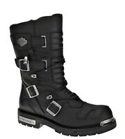 Harley-Davidson® Men's Tall Axel Riding Black Leather Motorcycle Boots D96035