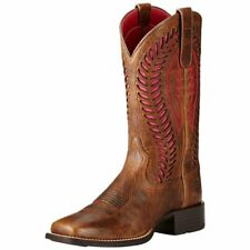 NIB Womens Ariat Quickdraw Pink VenTEK Square Toe Boots 10019904