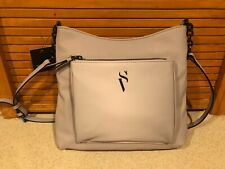 NWT Simply Vera Wang Signature Crossbody Bag Hanbag Purse grey