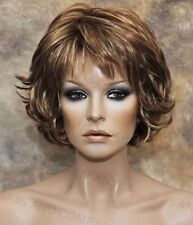 Everyday wig Multiple layers Classy Red Blonde Auburn mix flip ends lo rs29