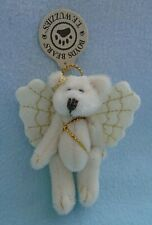 Vintage Boyds Fuzzy Bear Angel Wings Jointed Stuffed Animal Brooch Pin with Tags