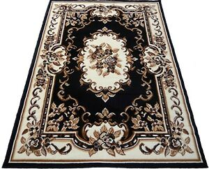 5x8 Area Rug Floral Carpet Burgundy Black Ivory Home Decor Actual Size 5'2 x 7'2