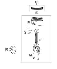 Genuine MOPAR Piston Ring Kit 68092206AA