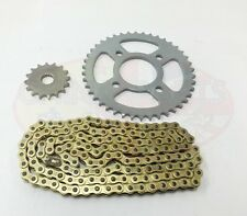 Chain & Sprockets Set Gearing Upgrade GOLD for Pulse Adrenaline 125 (Rear Disc)